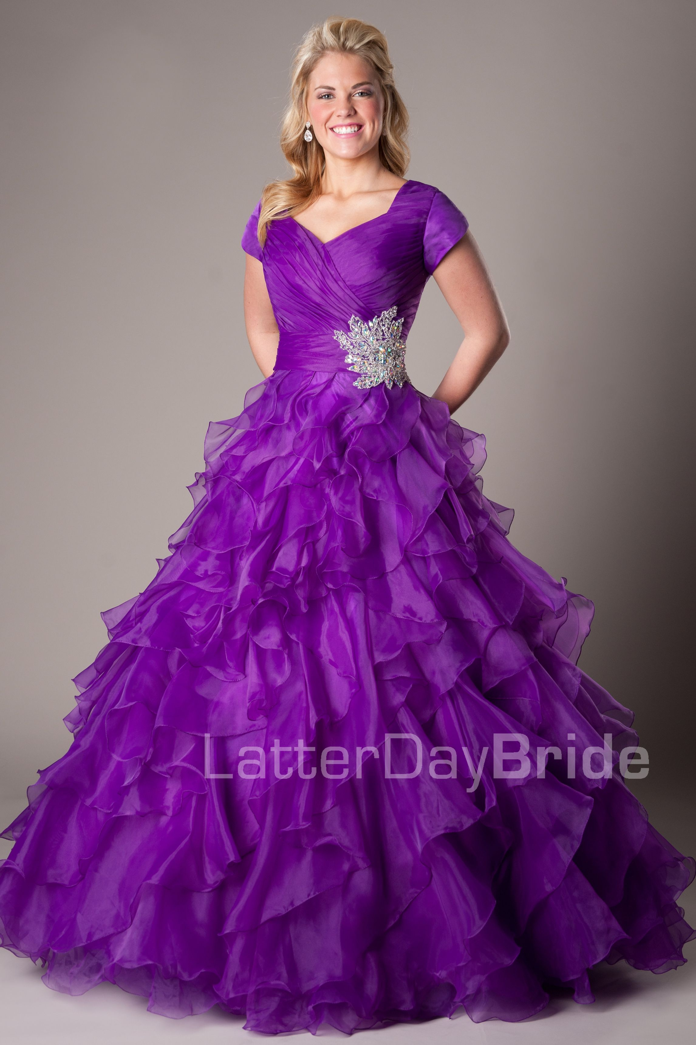 Modest Prom Dresses : Blake -Modest Mormon LDS Prom Dress - Modest ...