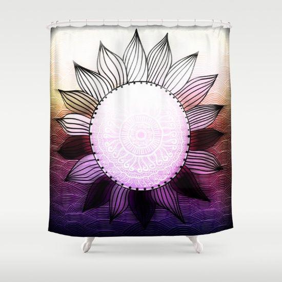Funky Sun Shower Curtain