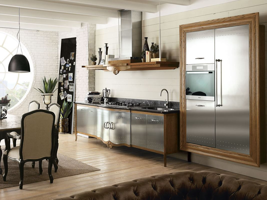 Fitted wood kitchen DECHORA COMPOSITION 02 Dechora