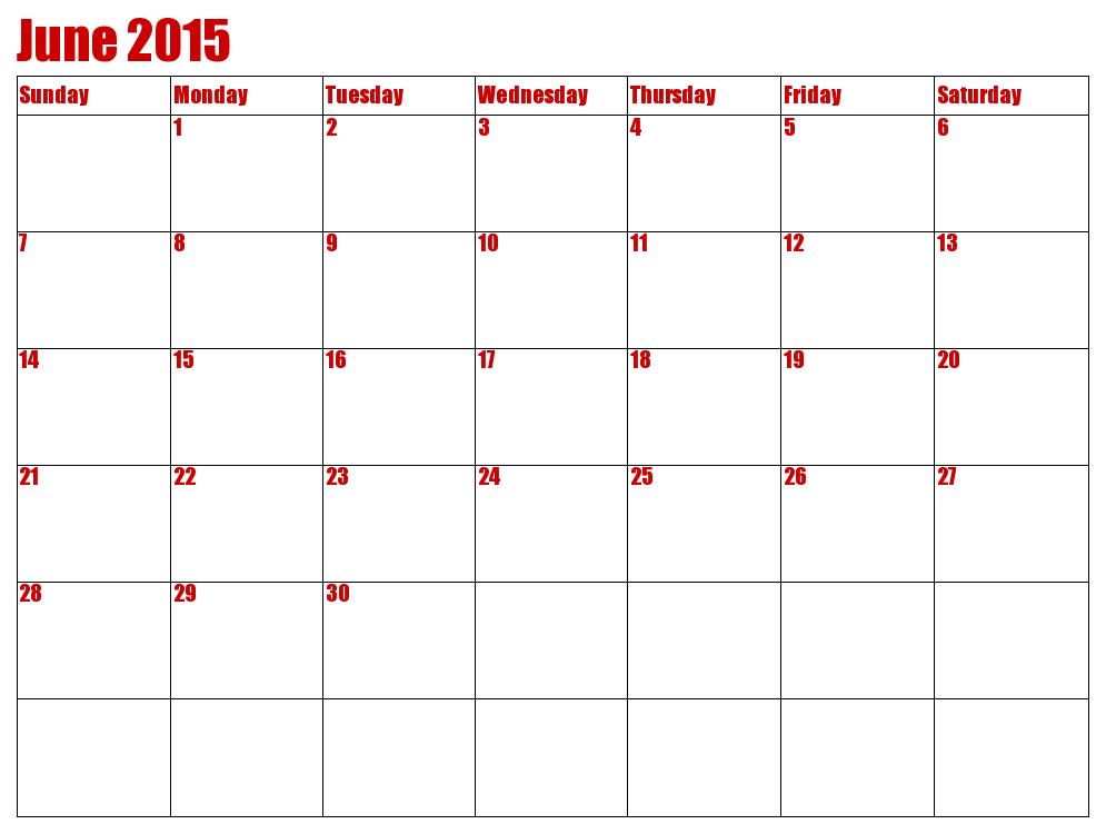 Printable June 2015 Calendar Weve Collected Very Beautiful Photo