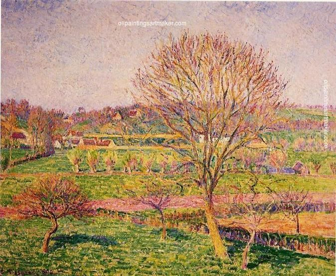 Camille Pissarro Big Walnut Tree at Eragny, 1892 Painting sale, painting Authorized official website