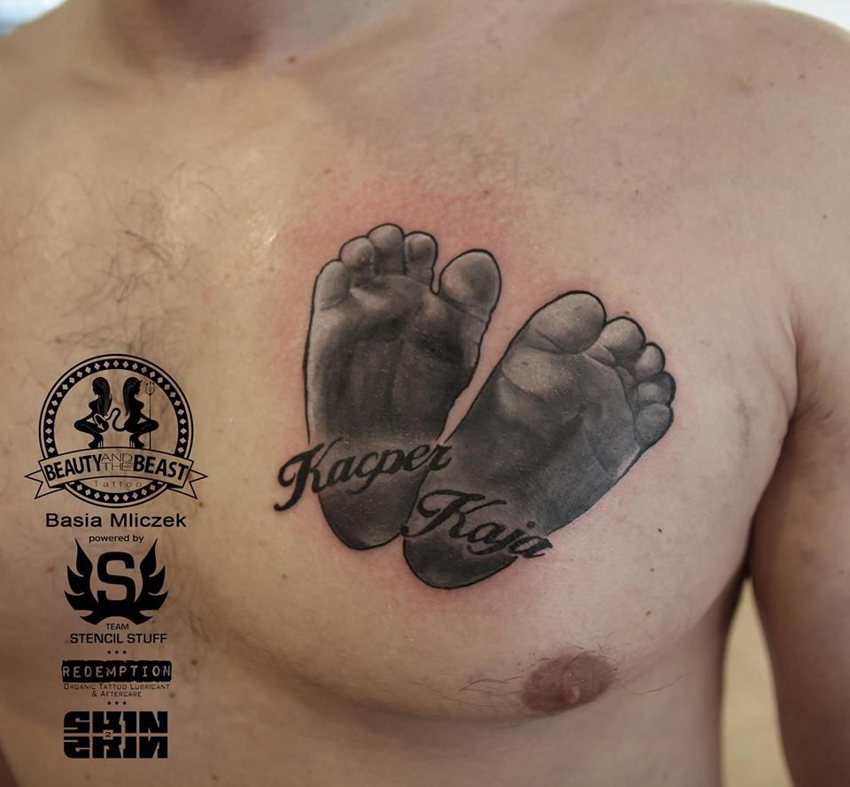 Baby Feet Tattoo By Basia Limited Appointments Available At Revival Tattoo Studio Name Tattoos For Moms Baby Tattoos Baby Feet Tattoos