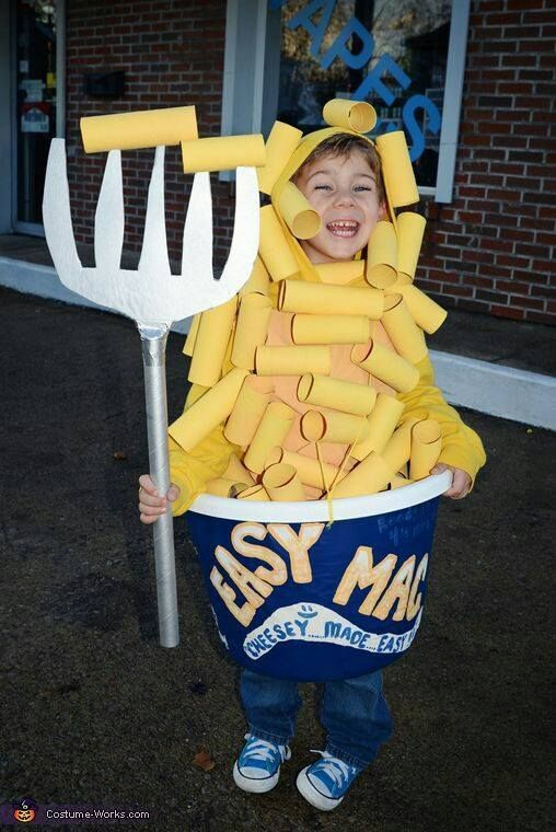 Macaroni and Cheese Costumethese are the BEST Kids