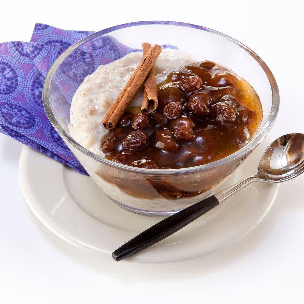 Rusinasoppa eli rusinakiisseli maistuu sellaisenaan maidon, kerman tai jogurtin kanssa. Se myös kruunaa ohra- tai riisipuuron.