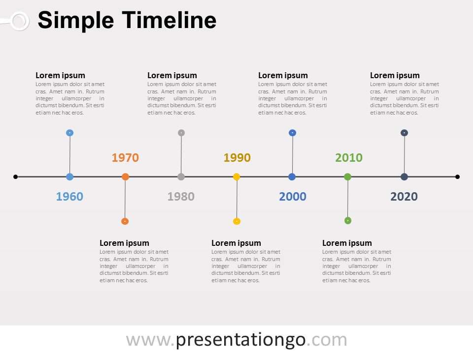 Simple Timeline Powerpoint Diagram Presentationgo Powerpoint