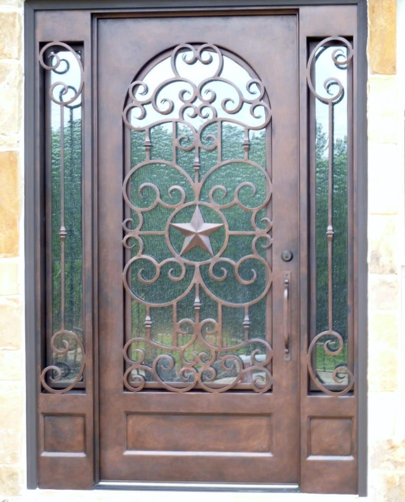 Wrought Iron Door With Texas Star Design Yelp Wrought Iron
