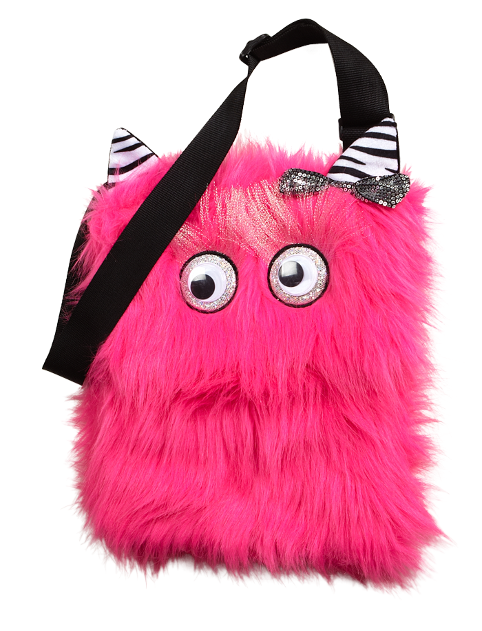 Pink Monster Fur Crossbody | Fashion Bags | Bags & Totes | Shop Justice