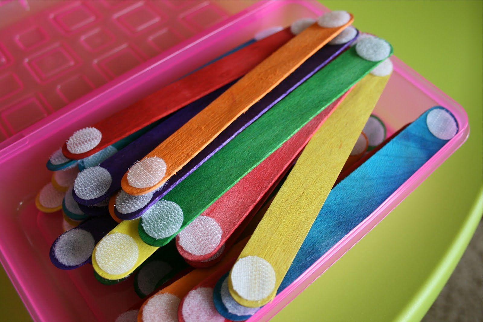 Velcro Crafts Sticks Craft Stick Crafts Toddler Crafts Airplane Activities