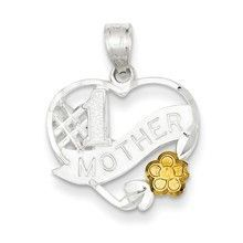 #1 Mother Heart Charm in Sterling Silver