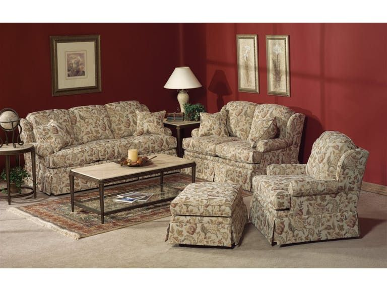 Flexsteel Living Room Fabric Sofa   Carol House Furniture   Maryland  Heights And Valley Park, MO