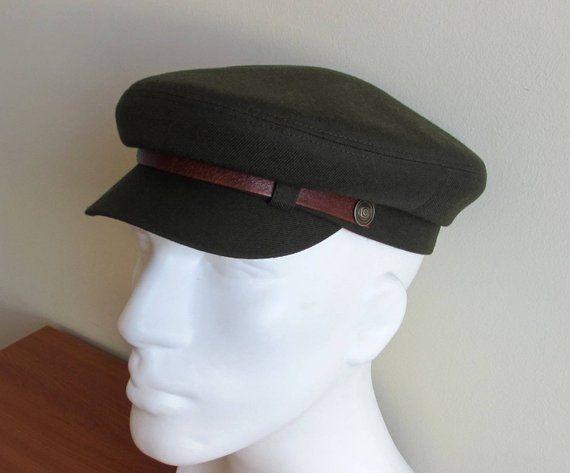 11837a5b0c0e60 Mens Military Fiddler cap/ Fishermans Hat/ Driving Army Cap/ Newsboy hat