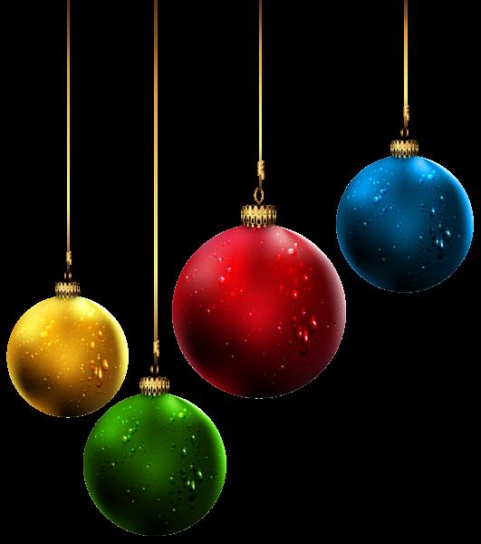 Christmas Balls PNG Clip Art Image