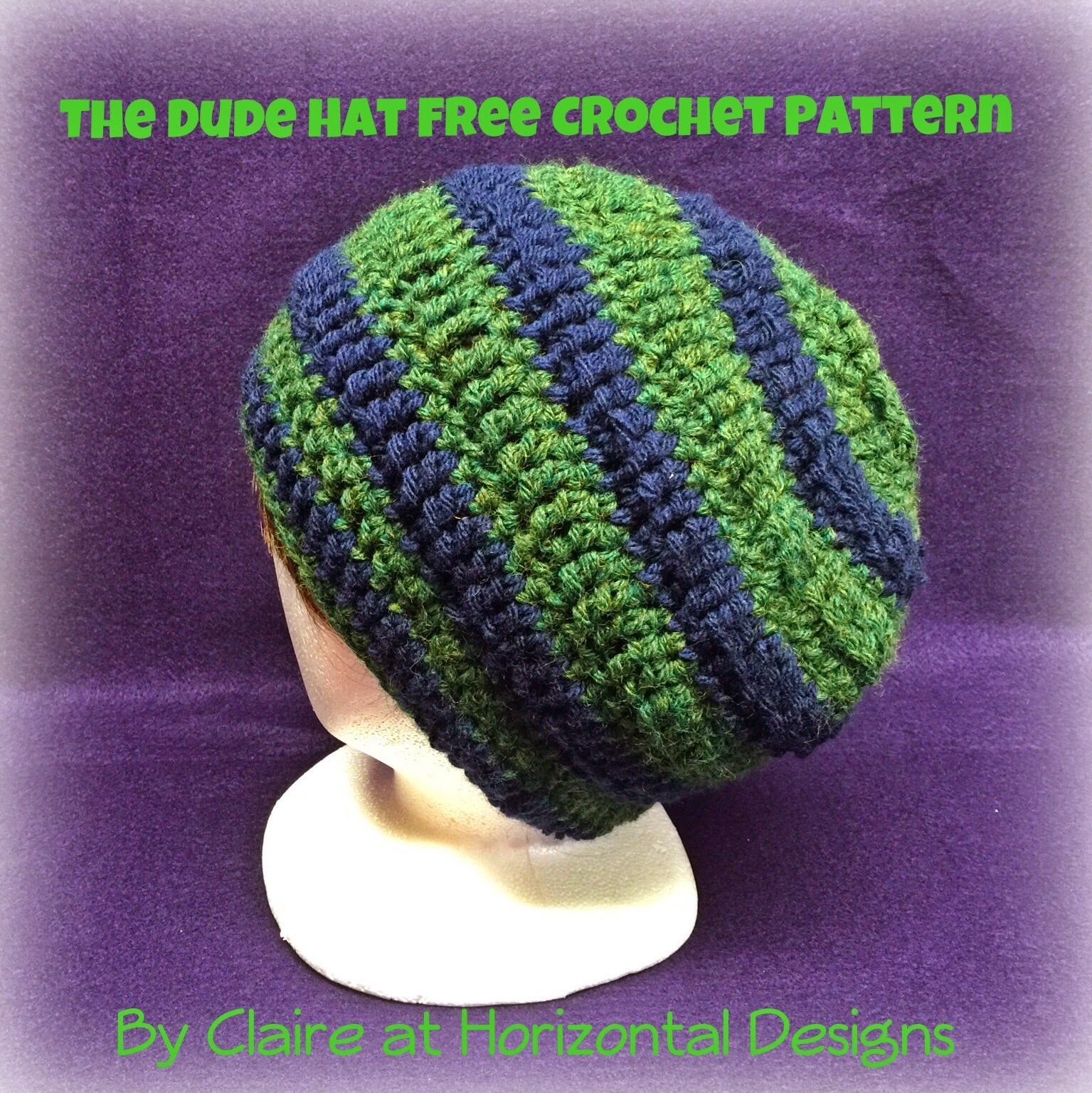 FREE crochet pattern for a fun slouchy men\'s hat - perfect for the ...