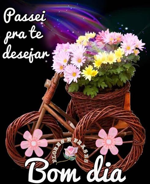 Passei Para Te Desejar Bom Dia Flores E Frases Mensagens Para