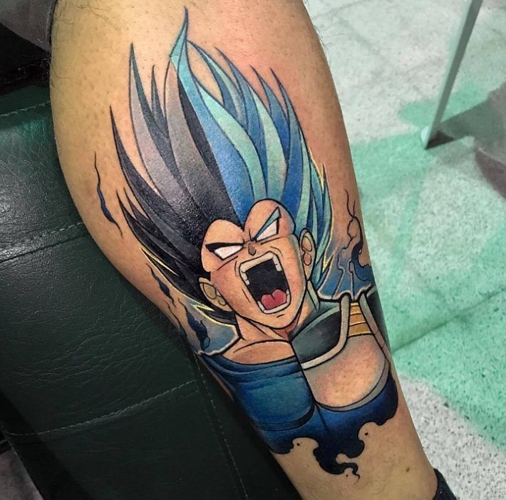 Sick Tattoo Rendition Of My Rage Series Vegeta By Davidmention