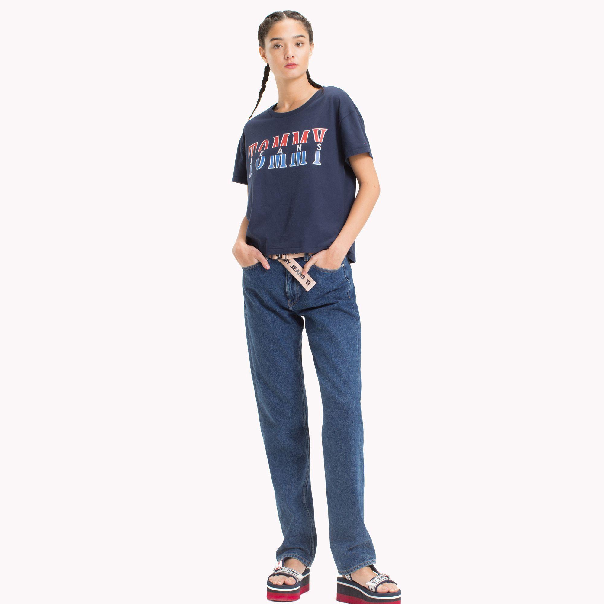 21d114f4d Tommy Hilfiger Retro Logo T-Shirt - Butterscotch Xl   Products ...