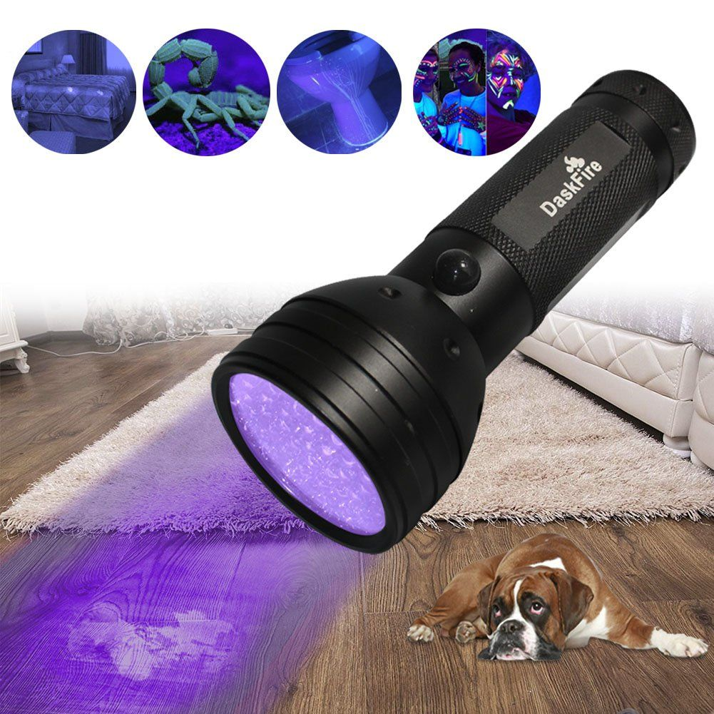 DaskFire Ultraviolet Flashlight Blacklight Flashlight 51
