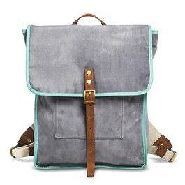 Women's Canvas Backpack with Magnetic Closure - Gray