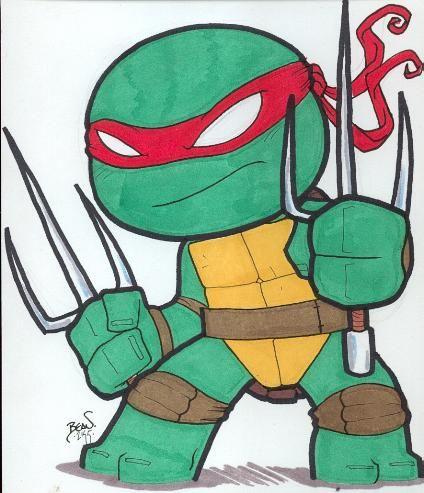 Chibi Raphael 2 By Hedbonstudios Deviantart Com On Deviantart Ninja Turtle Drawing Teenage Ninja Turtles Ninja Turtles Art