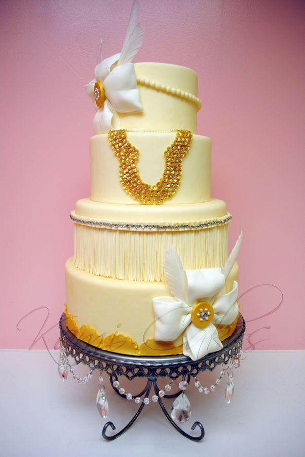 Great Gatsby Inspired Wedding Cake | FANTASTIC CAKES | Pinterest ...
