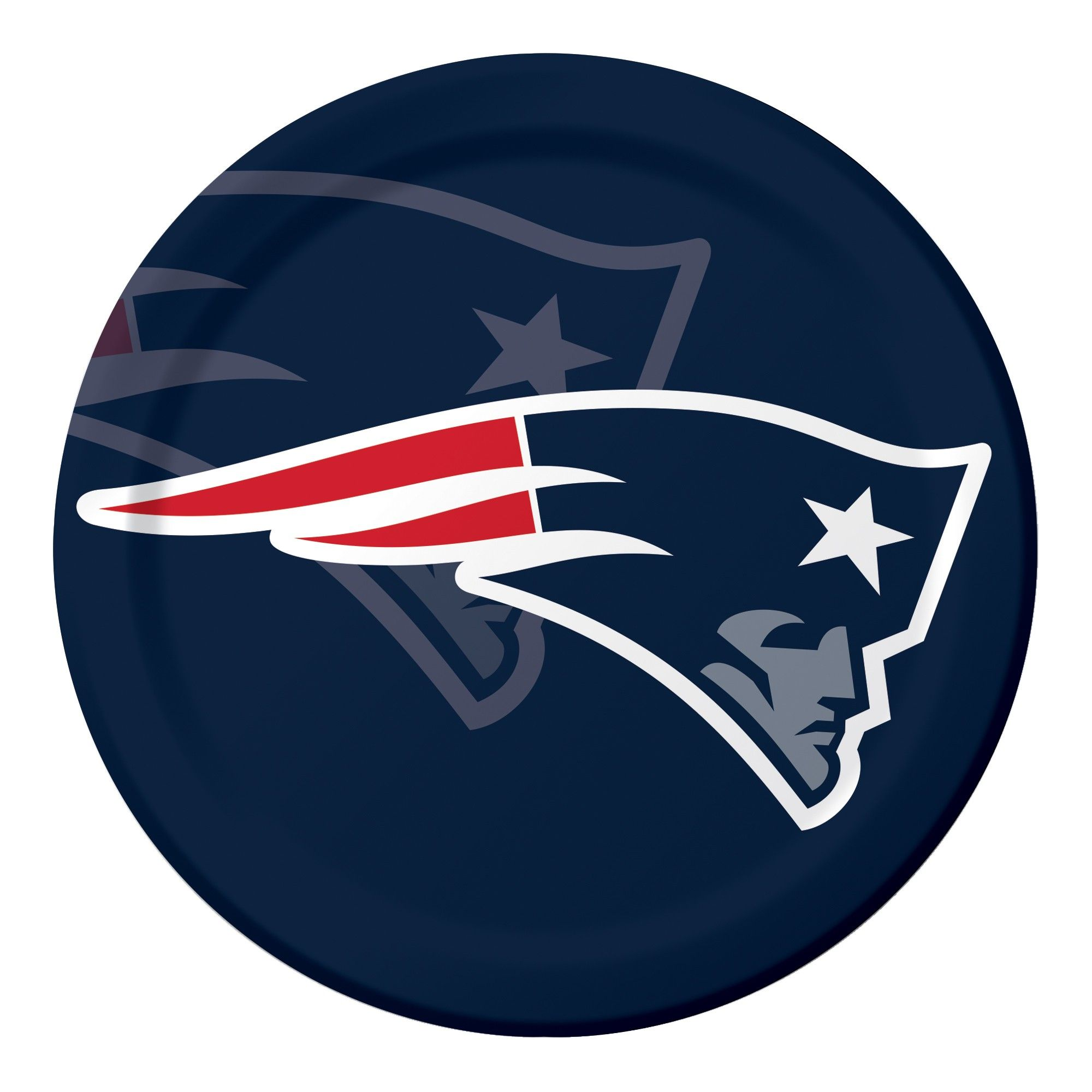 8ct New England Patriots Paper Plates, MultiColored New