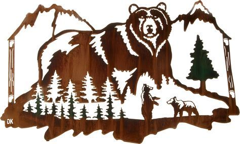 metal bear wall art - Google Search