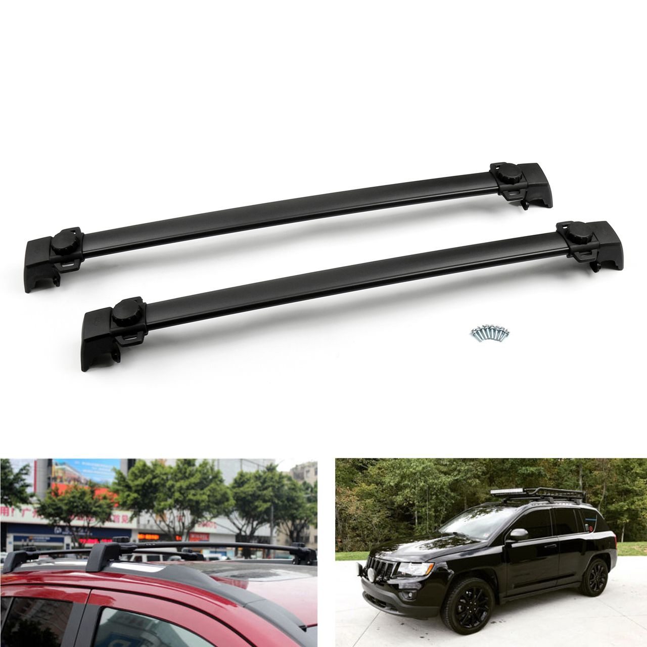 4 Door Roof Rack Cross Bars Rail Luggage Carrier For Jeep