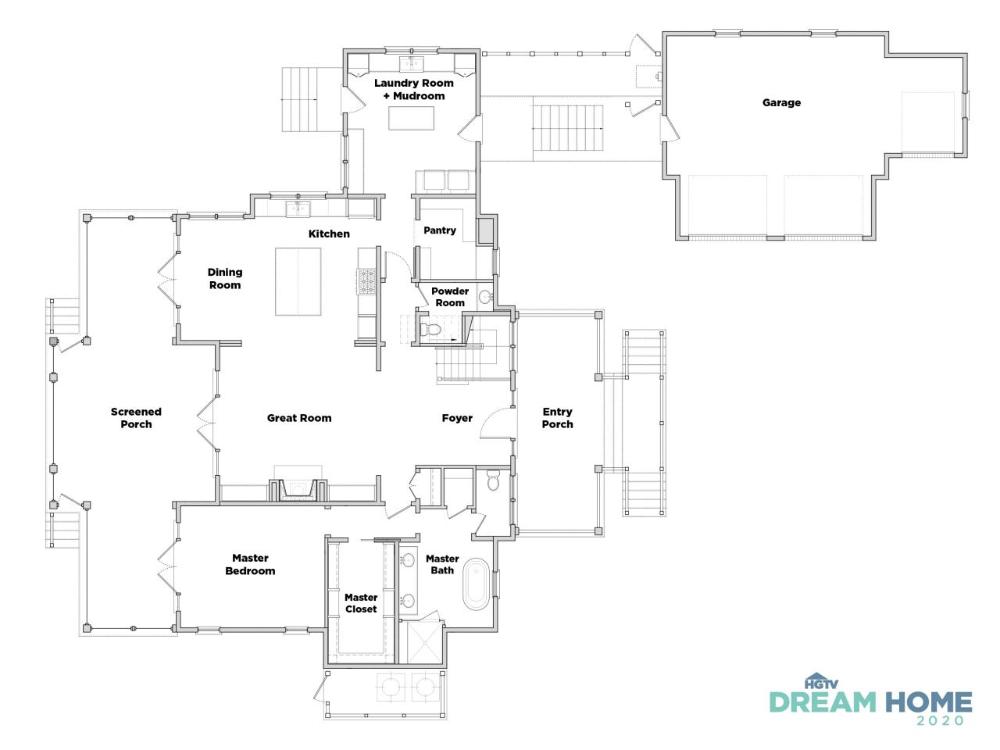 Discover The Floor Plan For Hgtv Dream Home 2020 In 2020 Hgtv