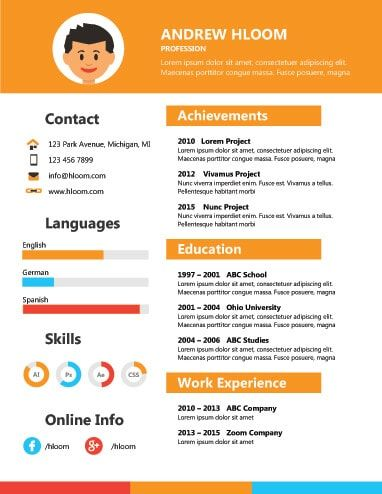 Free Resume Template By Hloom Com Infographic Resume Template Infographic Resume Free Resume Template Download