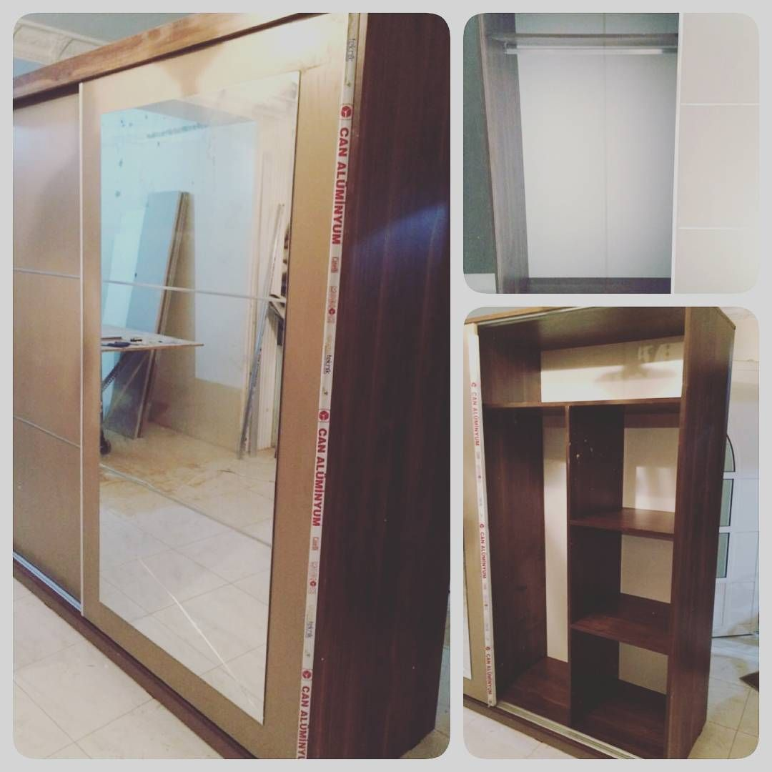 For Sale Wood Cabinet Sliding Door Brown Modern Style Size 200x220 New Price 95 Bd للبيع كبت خشب مودرن ستاي Wood Cabinets Sliding Doors Modern Style