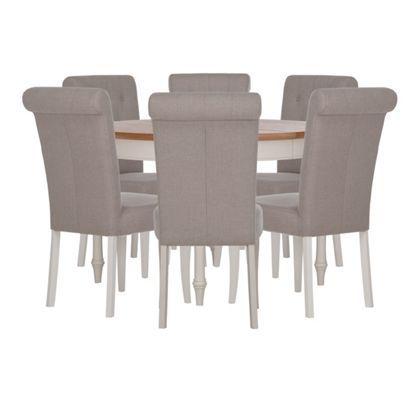 Schreiber Chalbury 4 6 Seater Extendable Dining Table with 6 Upholstered  ChairsSchreiber Chalbury 4 6 Seater Extendable Dining Table with 6  . Adaline Walnut Extendable Dining Table And 6 Chairs. Home Design Ideas