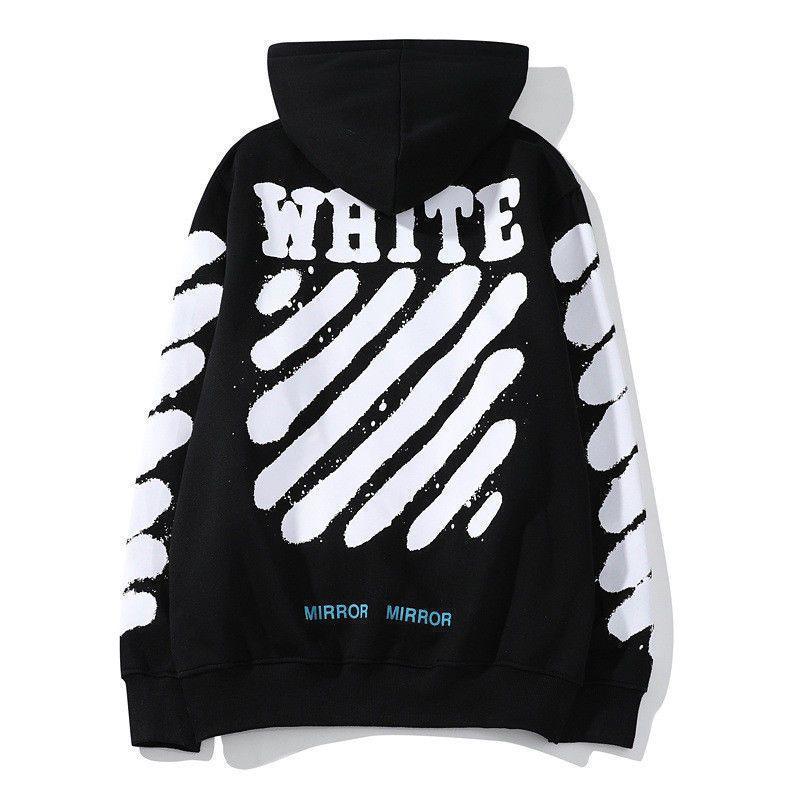 Off White  Hoodie Virgil Pyrex Vision Street Wear Jumper Sweatshirt