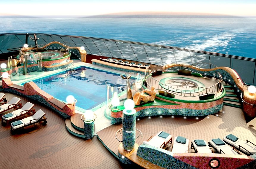 MSC Yacht Club Pool area (With images) | Biggest cruise ...