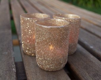 sale u2014 votive holders in champagne glitter