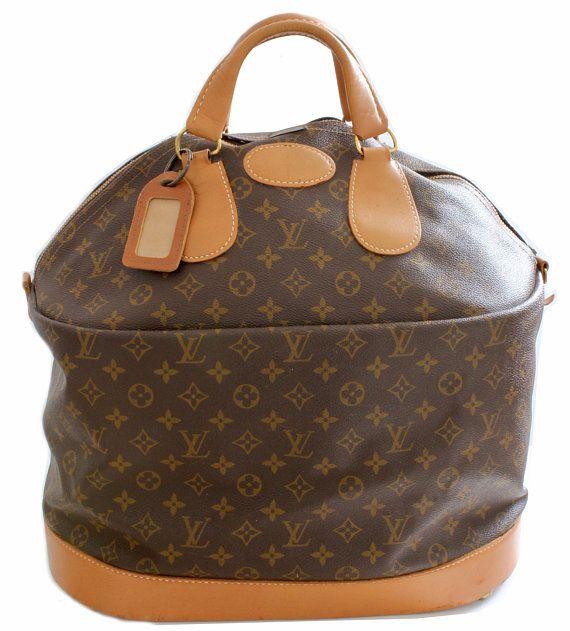 fc30f92b7084 70s Louis Vuitton Large Steamer Bag Monogram Travel Tote Saks 5th Ave Rare  Vintage Luggage