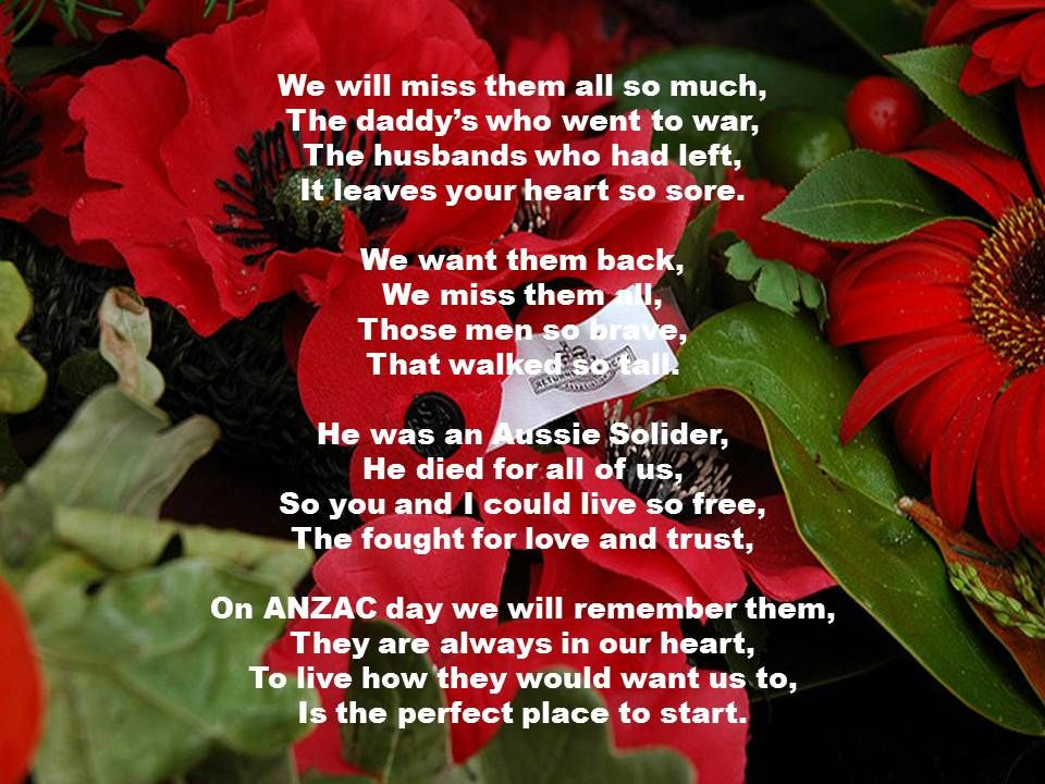 ANZAC Day poems1 Education Pinterest Poem