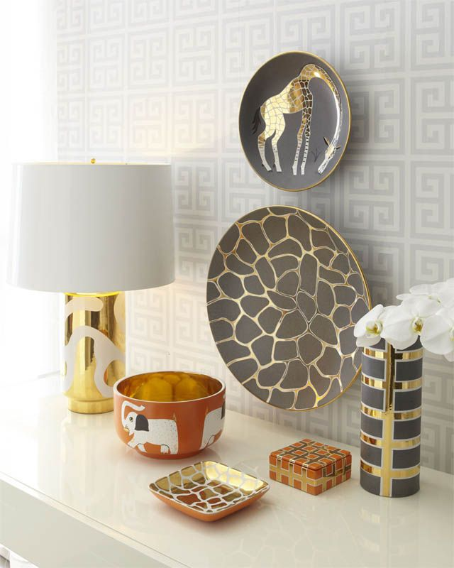 From Neiman Marcus Home Love The Gold And Grayish Brown