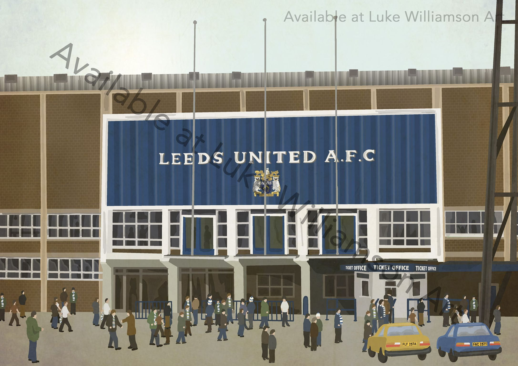 Leeds United Elland Road Art Print Photo Picture Poster A3 A4