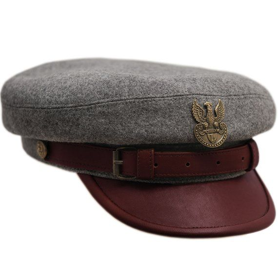 6656ed77 LEGION MACIEJOWKA REPLICA - Jozef Pilsudski Polish Rifleman Historical Wool  Cloth Leather Bill Cap Collectible Military Headgear Large Size