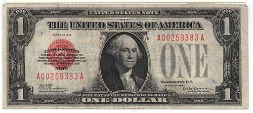 A gold standard one U.S. dollar bill, 1928 - F-YEAH HISTORY | One dollar  bill, Silver certificate, Dollar bill