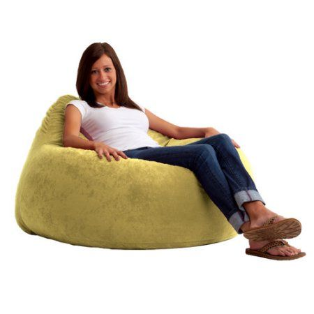 Fuf Chillum Comfort Suede Bean Bag Chair, Multiple Colors, Beige