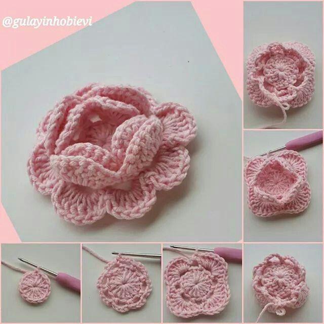 Pin von MARTHA PINILLA GARCIA auf flores croché | Pinterest | Blumen ...