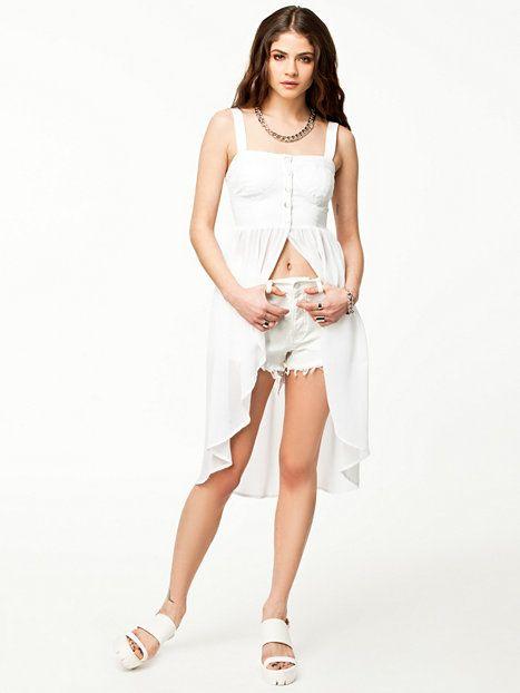 Bottomless Top Estradeur White Tops Clothing