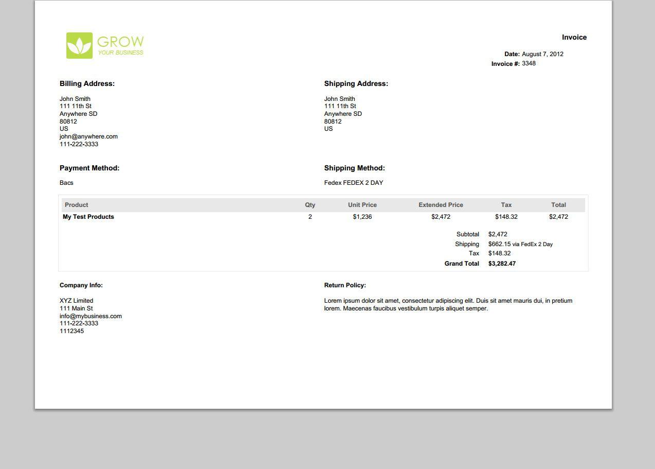 Landscape design invoice template   bathroom design 2017-2018 ...