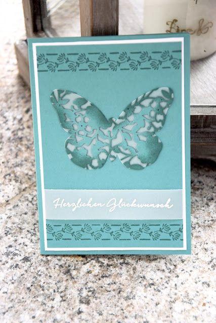 Herzlich Willkommen beim Papierfräulein: Blühender Schmetterling Stampin Up, Blühendes Herz, Schmetterling, Florale Grüße, Geburtstag Karte