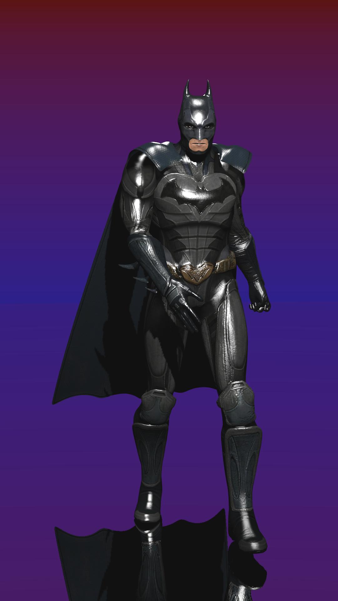 Batman From Injustice 2 Gods Among Us 3d Model Fully Textured Fully Rigged Batman Art 3d Model