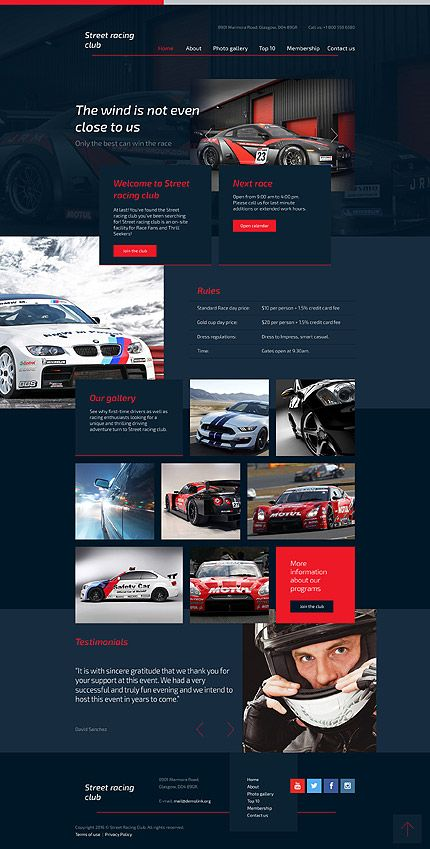 Street Racing Club #website #template #themes #business #responsive