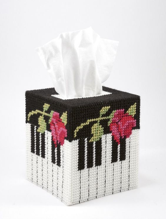 Handmade Finished Piano Rose Tissue Box Cover | StephsStuffStudio ...