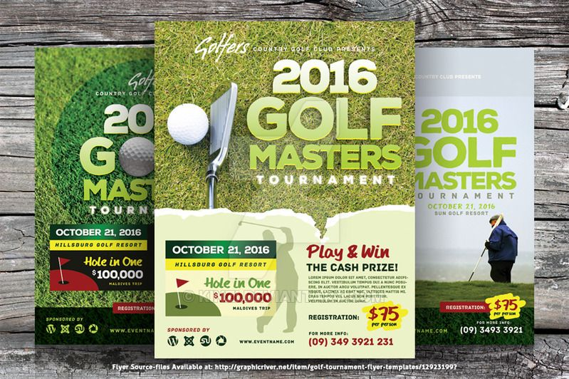 Golf Tournament Flyer Templates By KinziDeviantartCom On