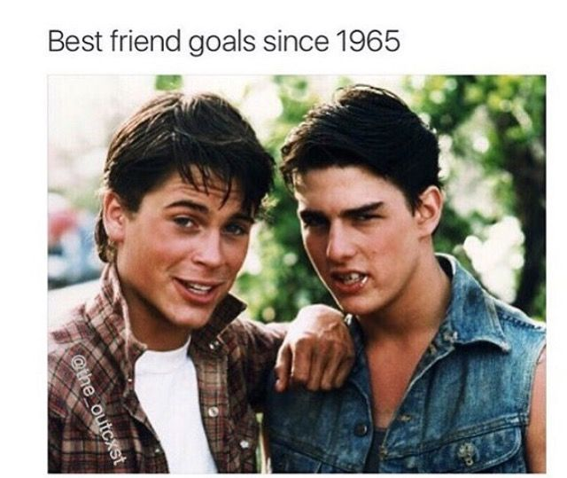 Famous Quotes From The Outsiders Movie: Me And A Friend Dressing Up Like This Next Week